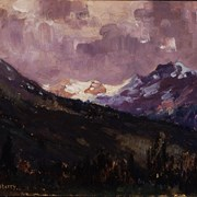 Cover image of Mountains near Jasper, 1914