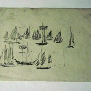 Cover image of Small Sketches of Sailboats