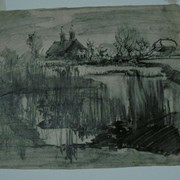 Cover image of Pond and Farmhouse