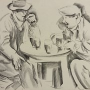 Cover image of Two Men at a Table