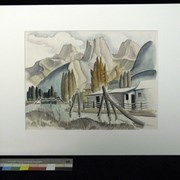 Cover image of Untitled [Three Sisters and Mt. Lougheed from Canmore Townsite]