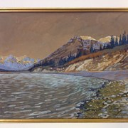 Cover image of Bow River near Exshaw, Alta