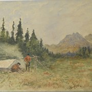 Cover image of Camp in Sifton Pass, B.C.