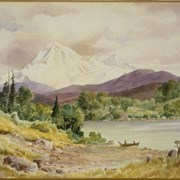 Cover image of Mount Baker from B.C. Coast, Olympic Range, Siwash Indian Boat