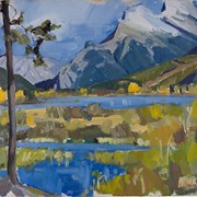Cover image of Mount Rundle in Autumn from Vermilion Lakes