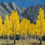 Cover image of Sawback Range and Aspens in Fall