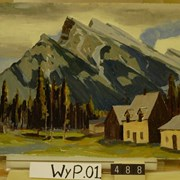 Cover image of Mount Rundle from near Brett Sanitarium
